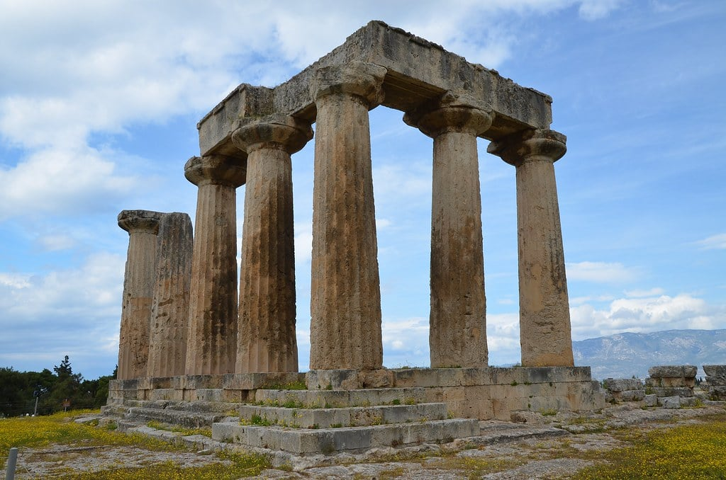 Temple of Apollo, built ca. 540 BC by the ancient greeks
