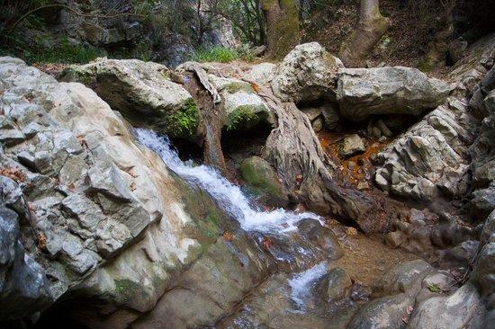 Karlovasi Waterfalls.