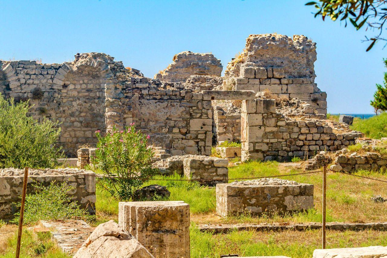 The Roman Baths on Samos Island