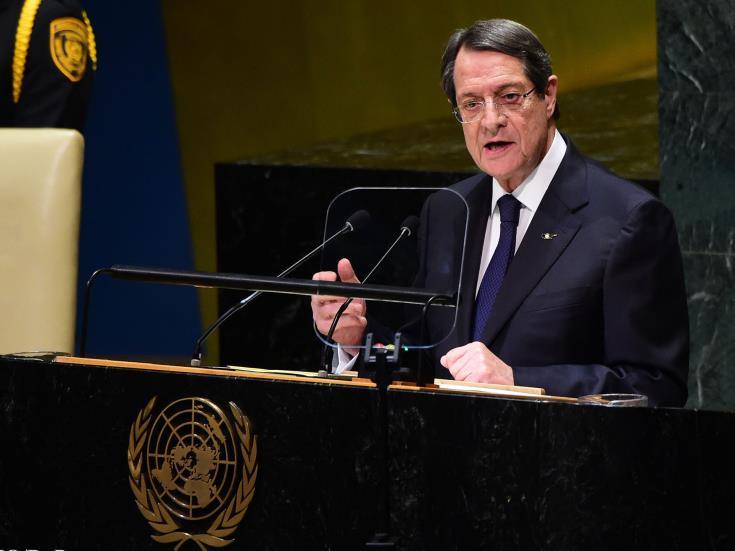 Cyprus President Anastasiades at UN