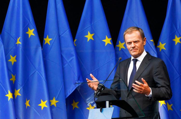 EU President Tusk Slams Turkey, Saying ''We Stand United Behind Cyprus''