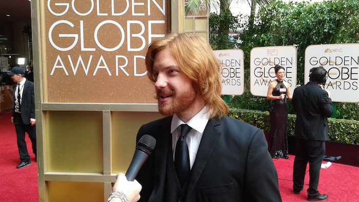 Ari Papargyropoulos at the Golden Globes