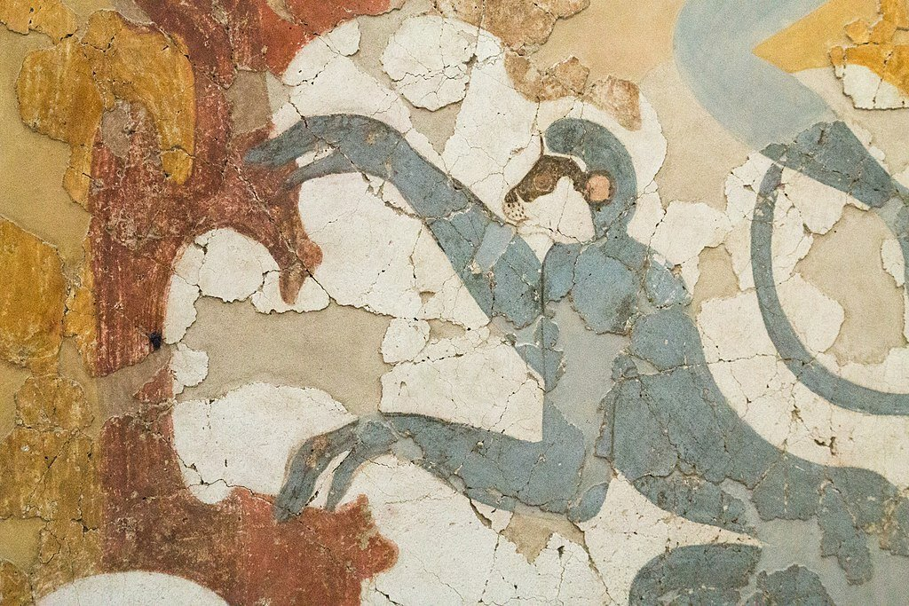 Monkeys bronze age greeks akrotiri