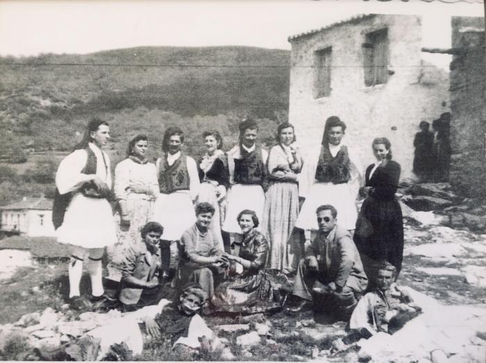 Bangor Greeks visiting Vamvakou