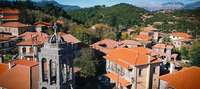 vytina greek mountain town