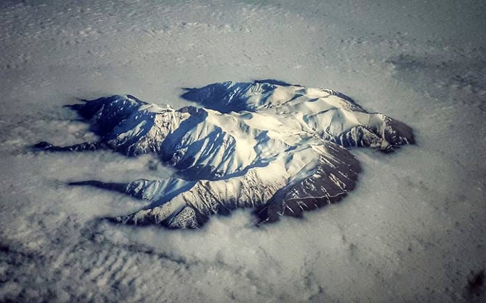 Aerial Photo of Snow-Capped Mount Olympus Goes Viral