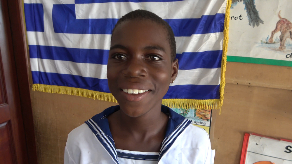 Student at Saint Nicholas Greek school in Ghana