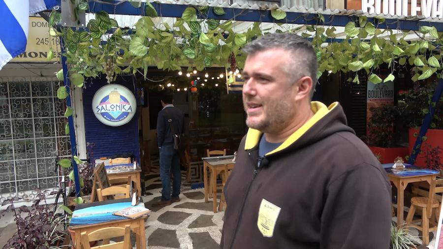 Greek Giorgos Sitatras in Bogota, Colombia
