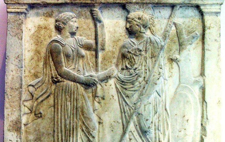 Handshake in Ancient Greece
