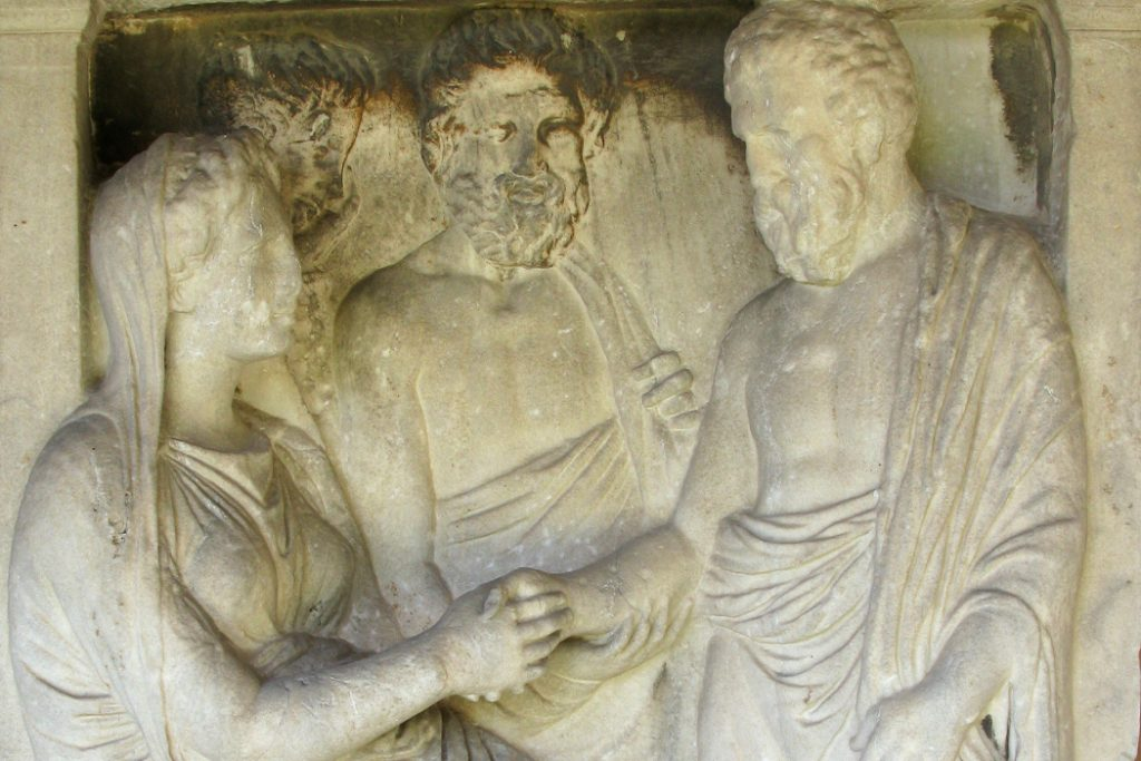 ancient greece kissing
