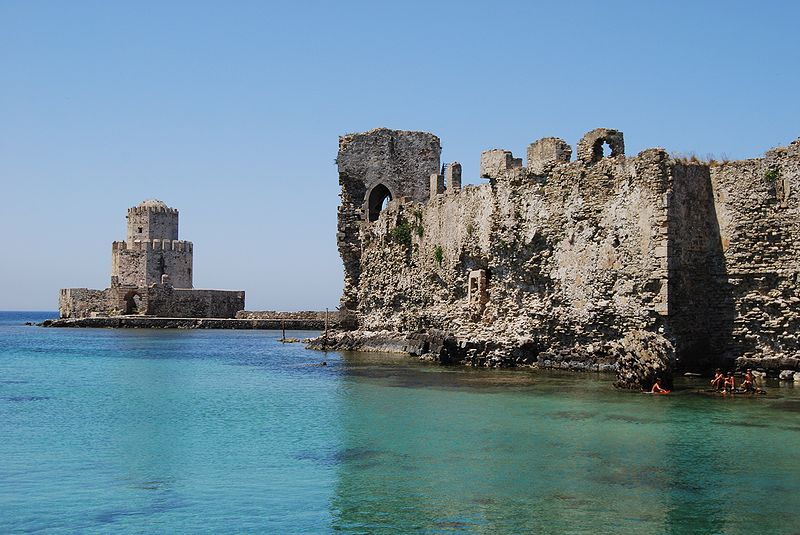 methoni koroni castles greek village seaside