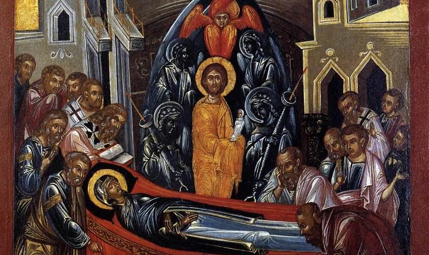 dormition of the virgin mary maria