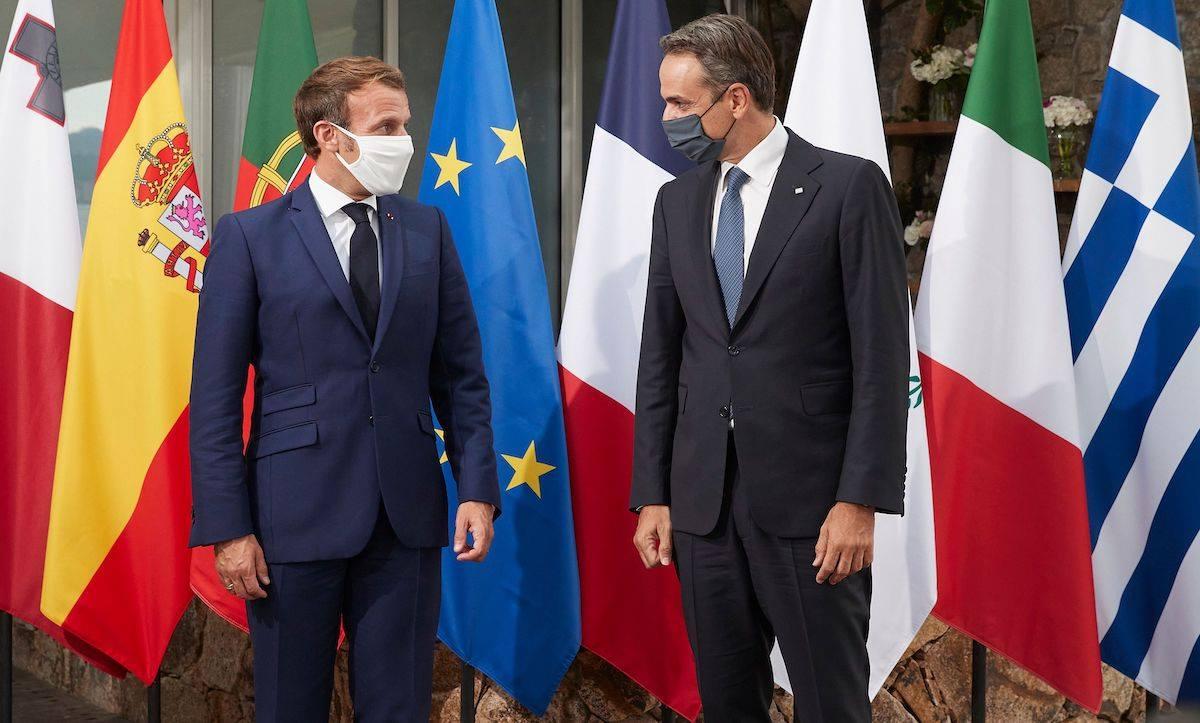 Mitsotakis and Macron talks
