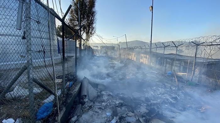 Migrant camp Lesvos