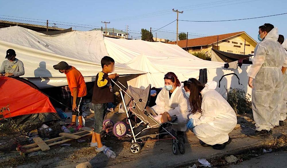 Lesvos refugees kara tepe