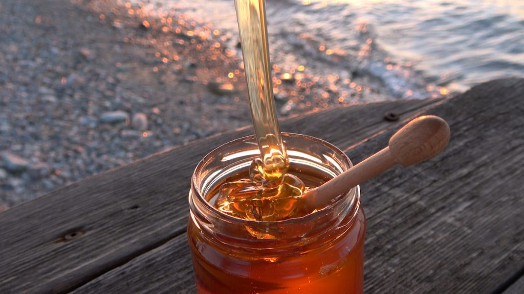 Greek honey is thick in consistency and has an amazing color