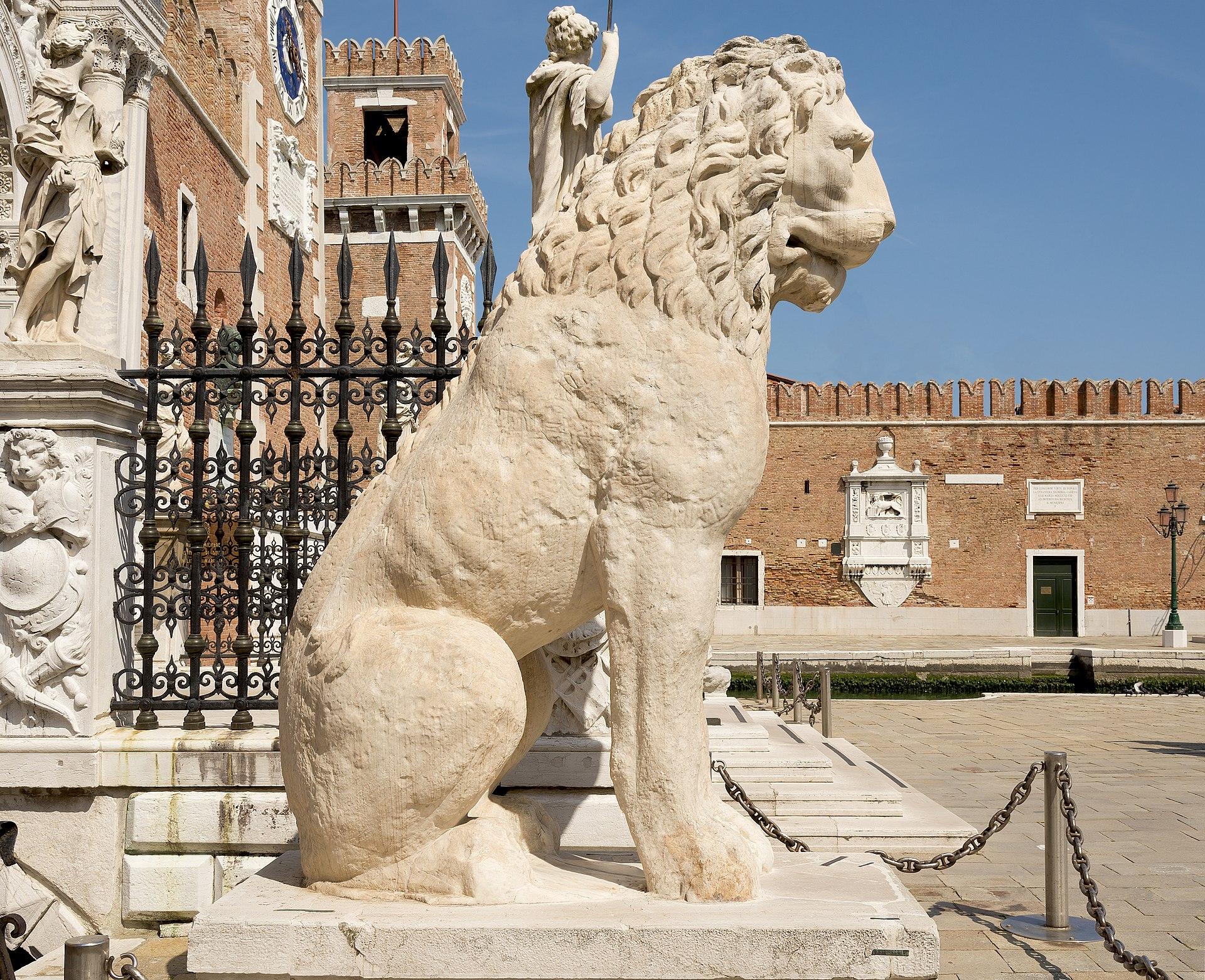 ancient greek lion venice piraeus