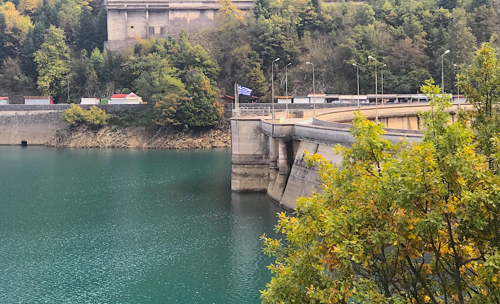 Lake Plastiras dam