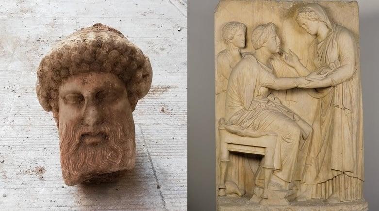 Ancient treasures athens street aeolus street