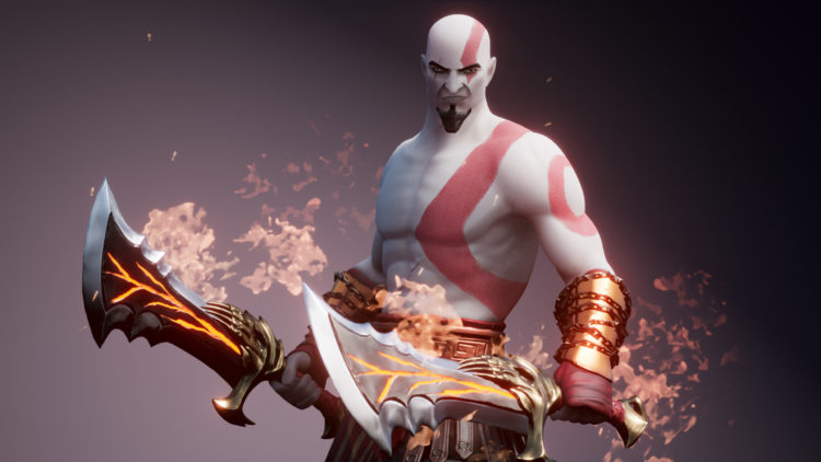 Scene of the ''God of War'' video game