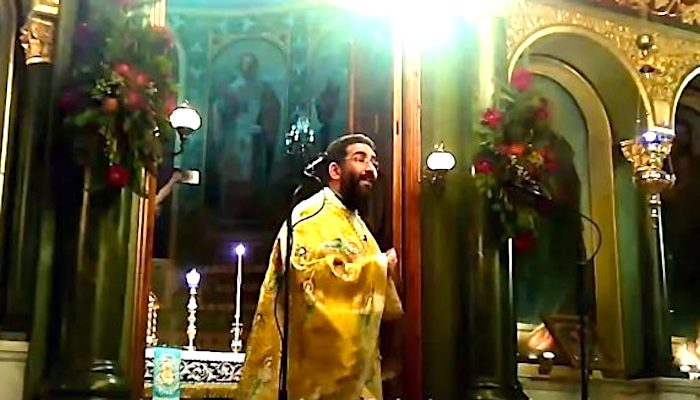 Greek Priest churchgoers