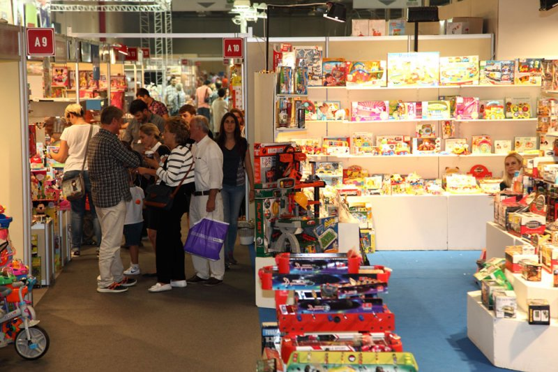 The Greek Toy Manufacturers Exhibition in Athens. Photo credit ToysInGreece.com