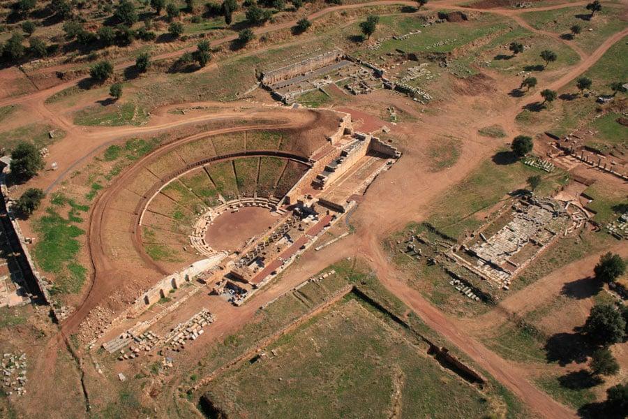 Ancient theater Messene in Peloponnesian