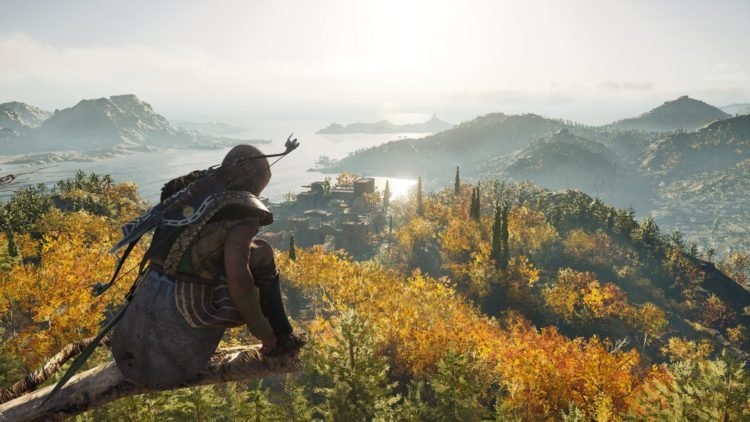 Scene of the video game ''Odyssey Assasin's Creed.