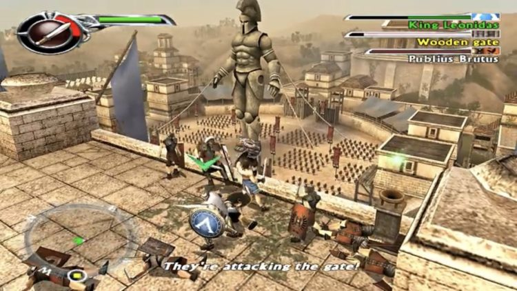 Scene of the ''Spartan: Total Warrior'' video game