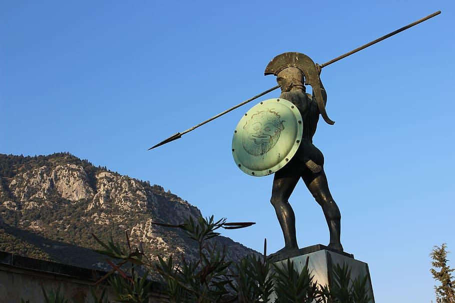 The statue of Leonidas in Sparta, Greece. Spartans