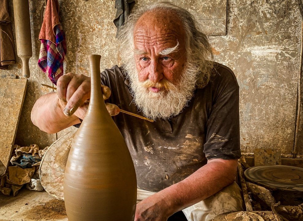 Pottery of Santorini greek island ceramics