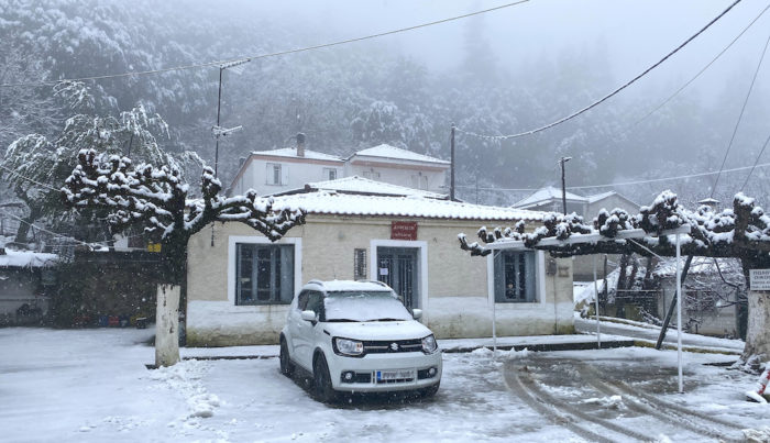 'Leandros' Bad Weather System Brings Snowfall in Greece