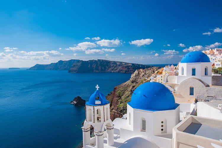 The view of Santorini in Greece