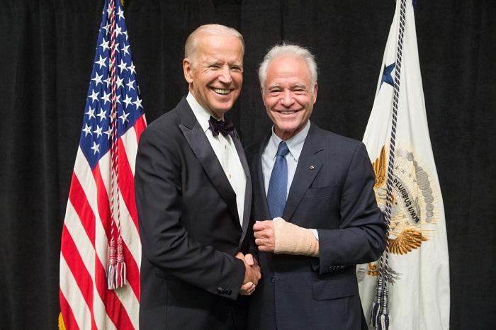 Dennis Mehiel with President Joe Biden
