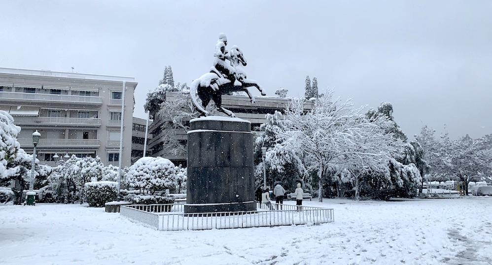 Snow Athens