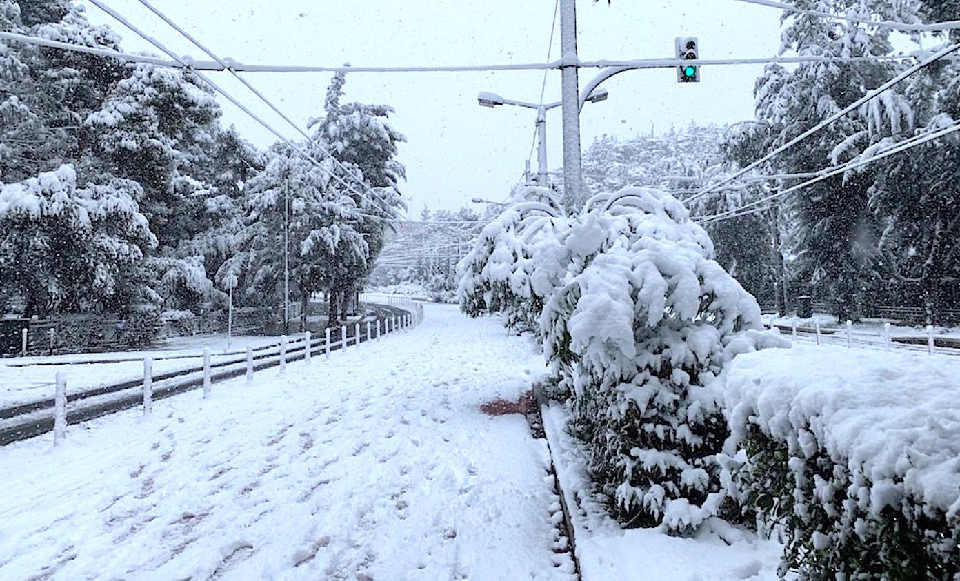 snow storm greece