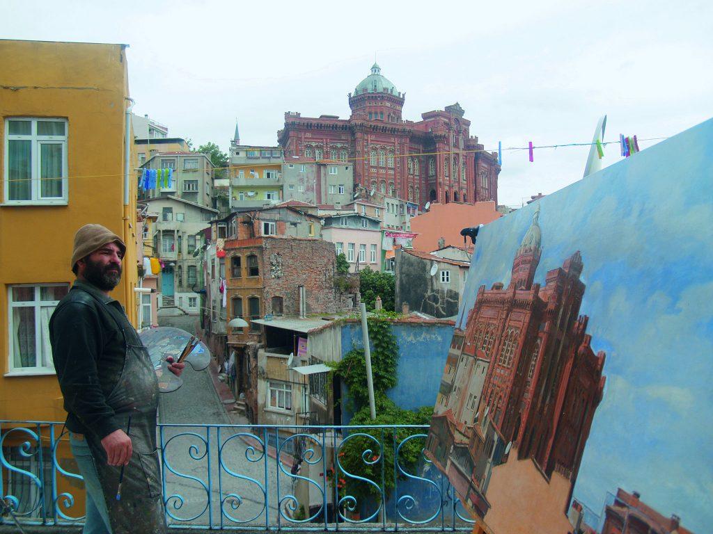 Painter Konstantinos Kerestetzis, Istanbul, Turkey