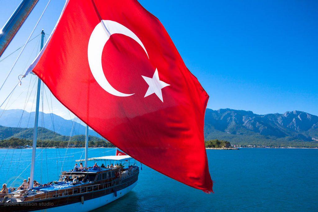 Turkish Flag Summer Holidays