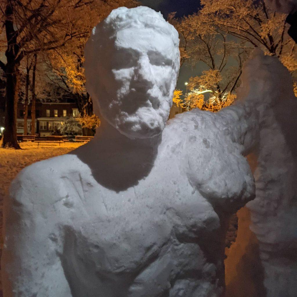 Γλυπτό πάγου του Ιπποκράτη