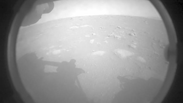 The first image of Mars