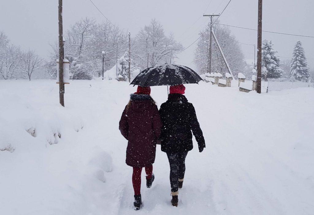 snow in greece medea