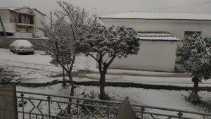 Snow greece