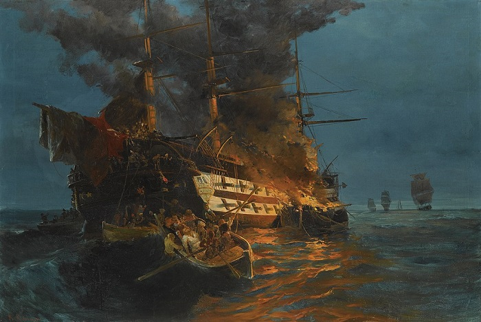 Greek fireships during the Greek War of Independence