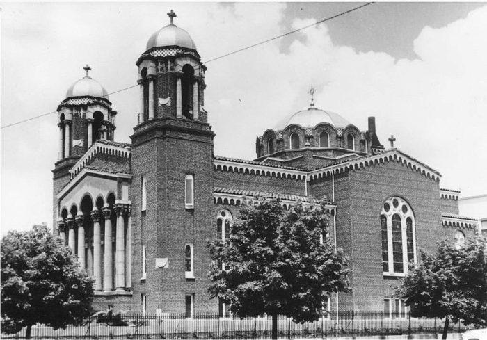 Εκκλησία της Αγίας Τριντίς, κοντά σε αυτό που ήταν το αρχικό Greektown στη Σολτ Λέικ Σίτι.