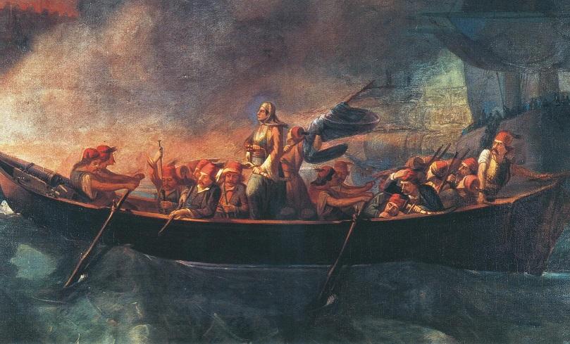 Bouboulina attacking Nafplion.