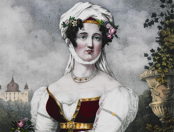 Portrait of Bouboulina by Friedel.