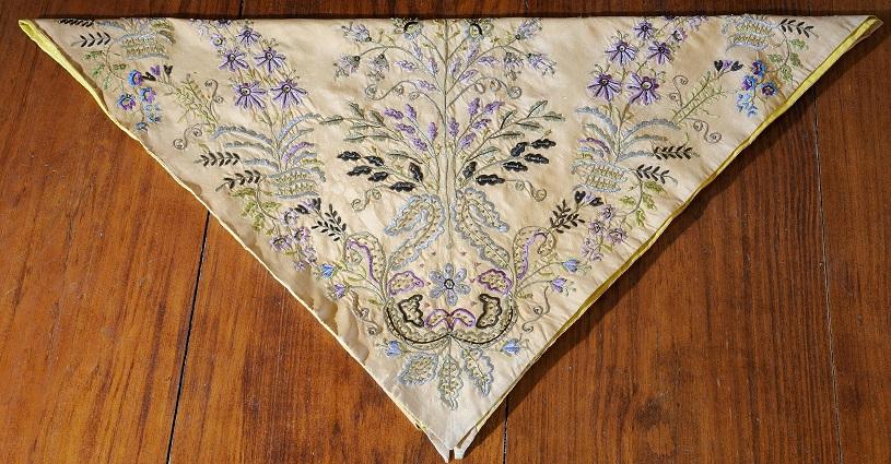 Bouboulina's embroidered headscarf. Photo credit: The Bouboulina Museum