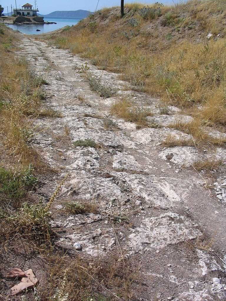 Diolkos ancient roadway