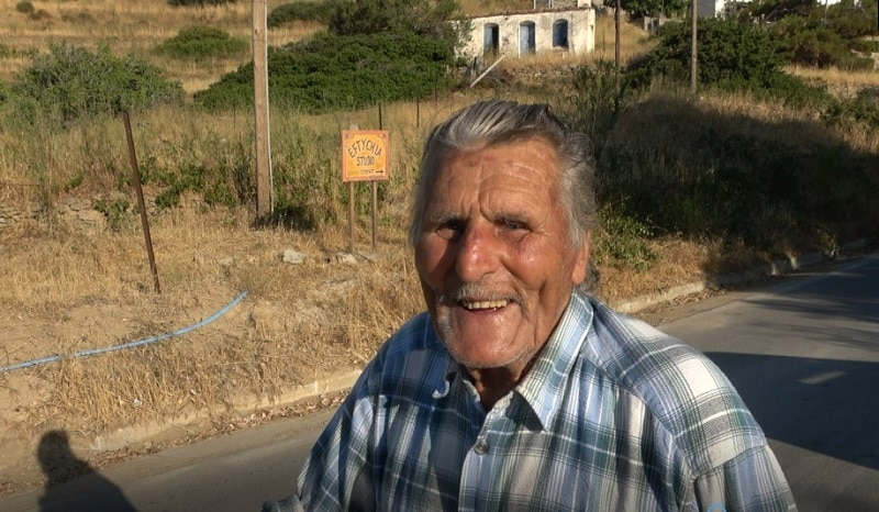 Ikaria elderly resident on longevity