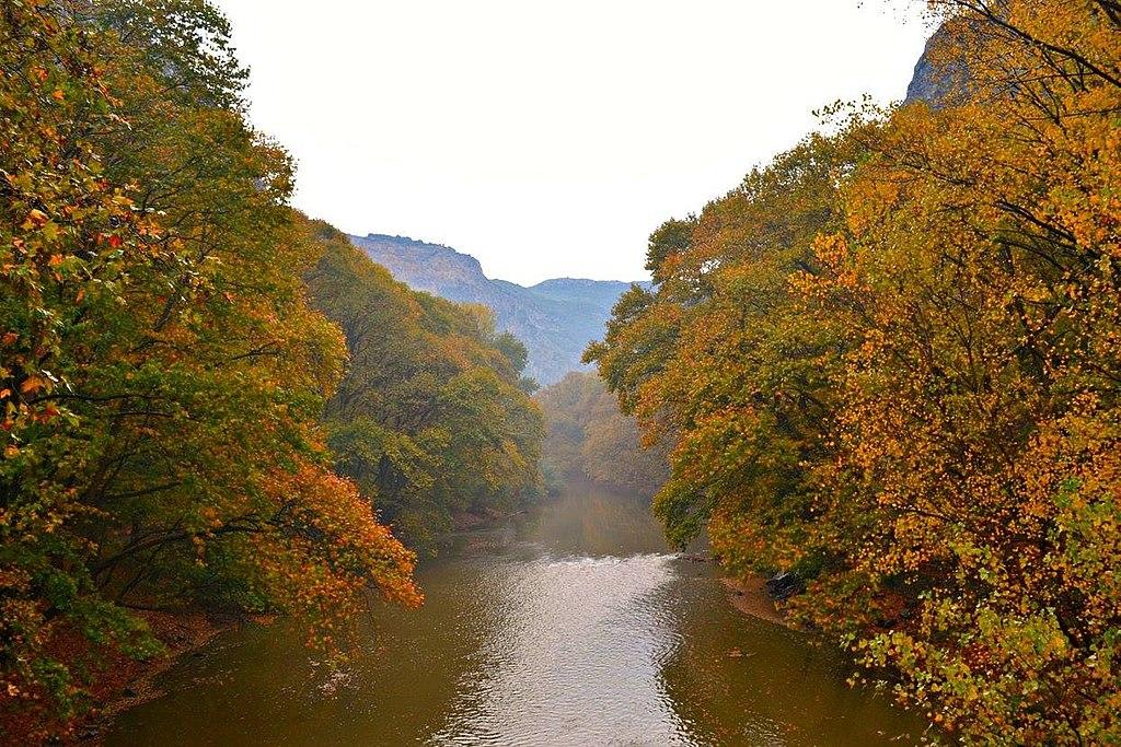 Greece pinios river
